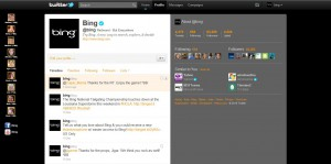 Bing's Updated Twitter background